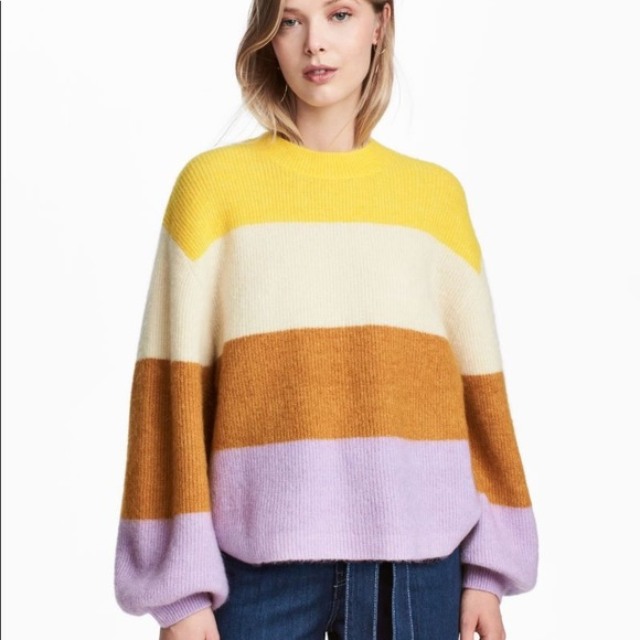 H&M Sweaters - H&M Striped Wool Blend Sweater in XS
